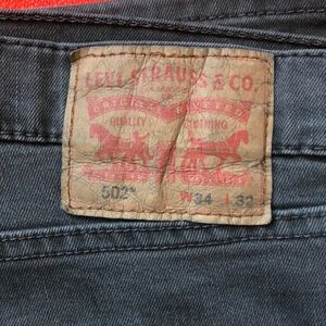 Levi's Men's Jeans taper fit 502 34x32 Black Wash